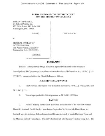 Page 1: 2011 hartley-v-fbi-complaint-09162011