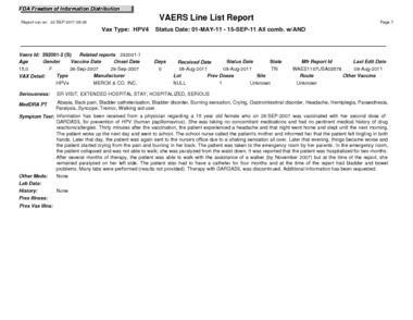 Page 1: 2011 vaers-050111-091511