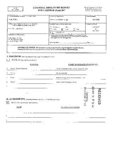 Page 1: Willie L Sands Financial Disclosure Report for 2007