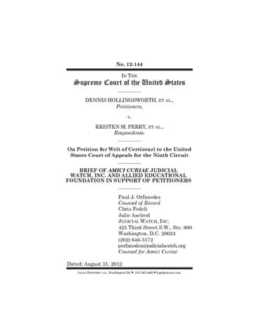 Page 1: 120815 Amicus Brief for Cert Prop 8 VER2