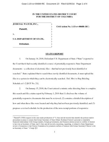 Page 1: JW v State Explanation of new records 00688