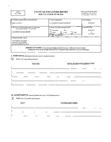 Page 1: Avern L Cohan Financial Disclosure Report for 2011
