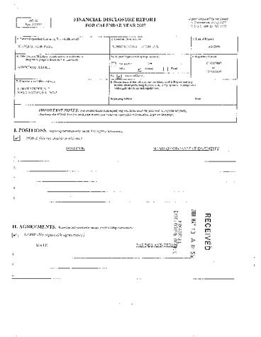 Page 1: John Paul Stevens Financial Disclosure Report for 2007