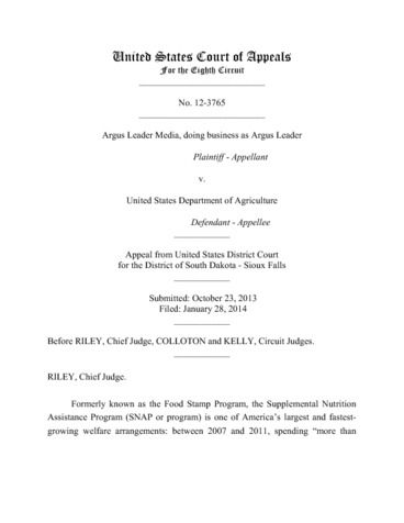 Page 1: USDA8thCircuit