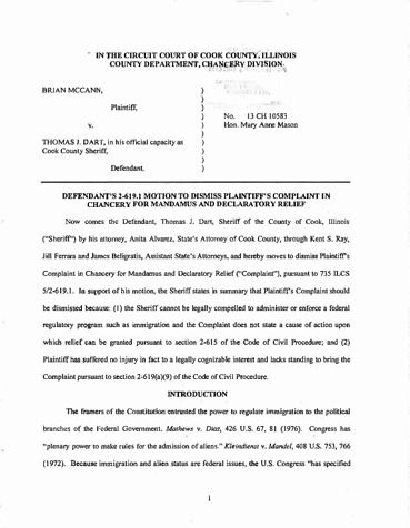 Page 1: Defs Motion to Dismiss