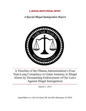 Page 1: Judicial Watch Special Illegal Immigration Report