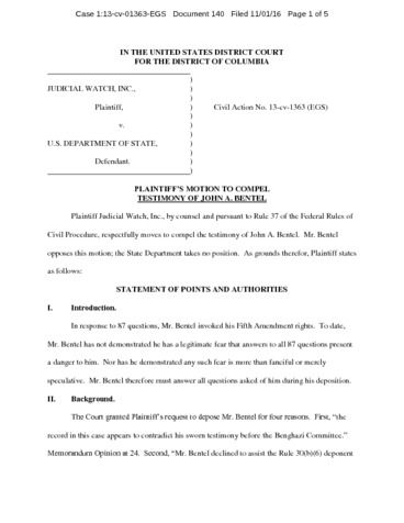 Page 1: JW v State Motion to Compel Bentel 01363