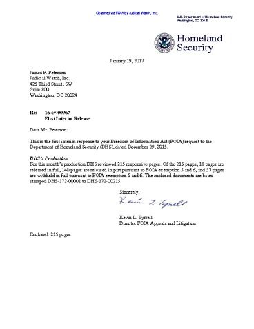 Page 1: JW v DHS Jeh Johnson Email production 00967